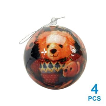 NOELLE HIASAN NATAL XMAS PICTURE BALL 7.5 CM 4 PCS_1