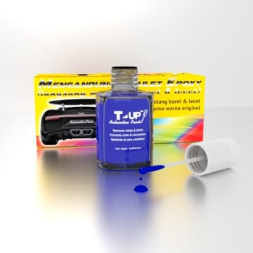 T-UP CAT OLES VIVID BLUE METALLIC PENGHILANG GORES HONDA 18 ML_3