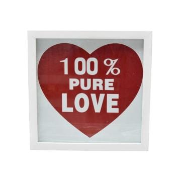 HIASAN DINDING PURE LOVE 30X30 CM - PUTIH_1