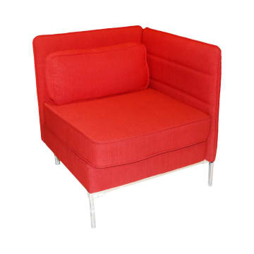 SOFA SUDUT TUNGGAL SIDE LENOX - MERAH_1