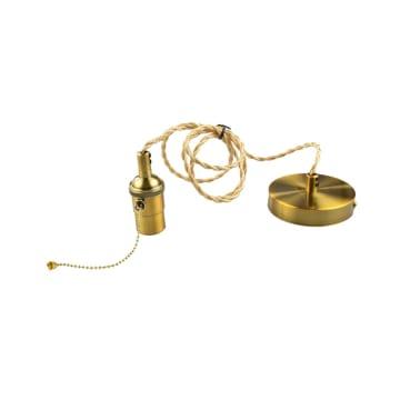 KRISBOW FITTING LAMPU GANTUNG E27 - GOLD_1