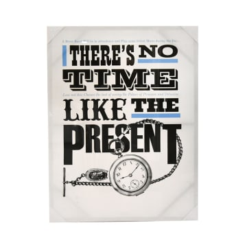 HIASAN DINDING KANVAS PRINT THERE IS NO TIME 80X60X2.5 CM_1
