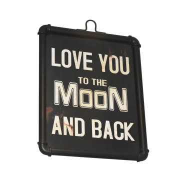 HIASAN DINDING PLAKAT LOVE YOU TO THE MOON 39.5X3X53 CM_1