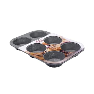 KRISCHEF LOYANG KUE MUFFIN MARBLE COATING 6 CUP_1