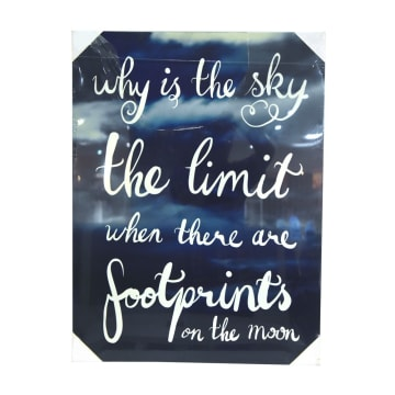 HIASAN DINDING KANVAS PRINT WHY IS THE SKY THE LIMIT 80X60X2.5 CM_1