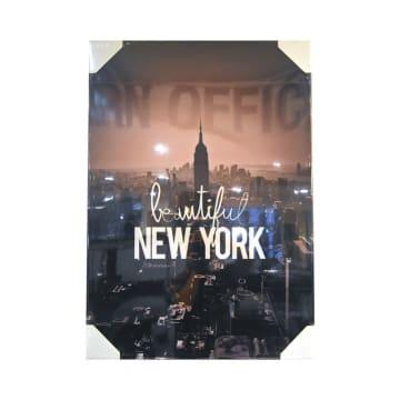 HIASAN DINDING KANVAS PRINT BEAUTIFUL NEW YORK 65X92.5X3 CM_1