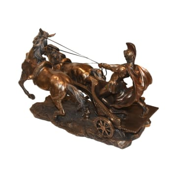 MINIATUR DEKORASI CENTURIAN ON 2 HORSE CHARIOT_2