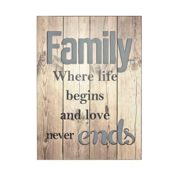 HIASAN DINDING KAYU FAMILY NEVER ENDS 45.5X63.5X1.8 CM_1