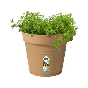ELHO GREEN BASIC GROWPOT POT TANAMAN 17 CM - COKELAT_1