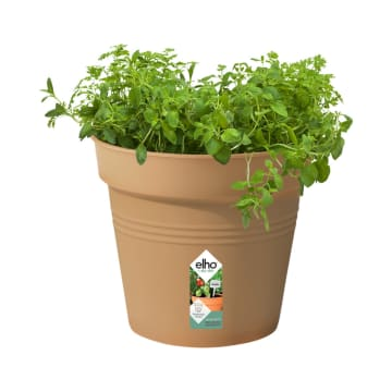 ELHO GREEN BASIC GROWPOT POT TANAMAN 15 CM - COKELAT_1