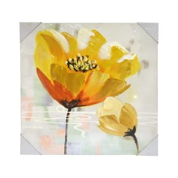 HIASAN DINDING KANVAS PRINT FLOWER 2203A 60X60 CM_1