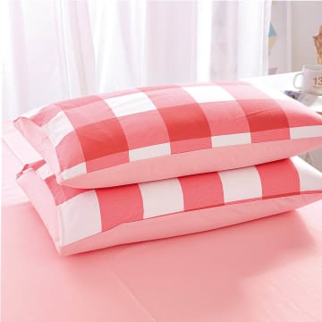 LINOTELA SET SEPRAI BUFFALO PLAID - PINK_2