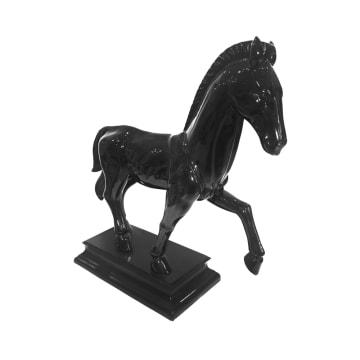 MINIATUR DEKORASI HORSE 210-B 57X21X62 CM - HITAM_2