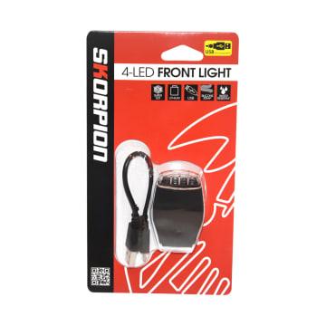 SKORPION LAMPU DEPAN SEPEDA LED USB AFL-271_1