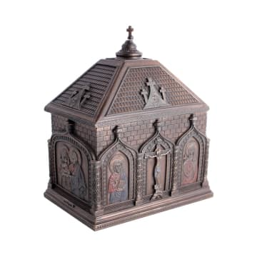 MINIATUR DEKORASI CATHOLIC CHAPEL TRINKET BOX 13X9X15 CM_1