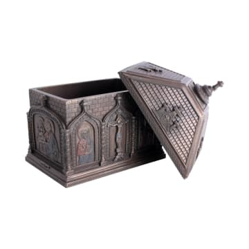 MINIATUR DEKORASI CATHOLIC CHAPEL TRINKET BOX 13X9X15 CM_3