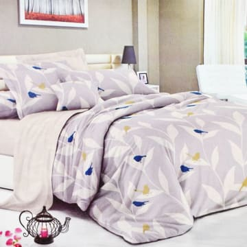 KRISHOME BED COVER MICROTEX 1601-K_1