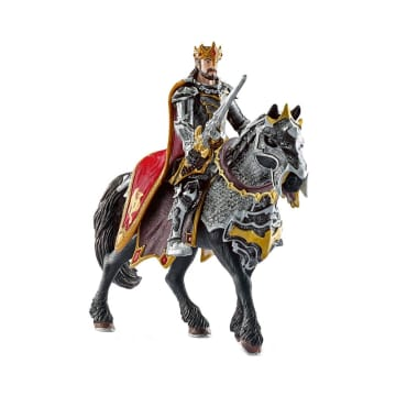 SCHLEICH MINIATUR ELDRADOR DRAGON KNIGHT KING ON HORSE_1