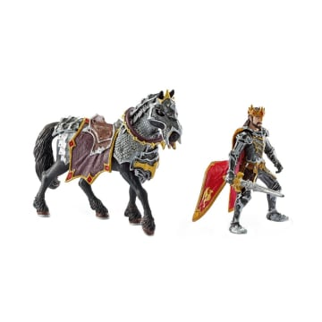 SCHLEICH MINIATUR ELDRADOR DRAGON KNIGHT KING ON HORSE_2