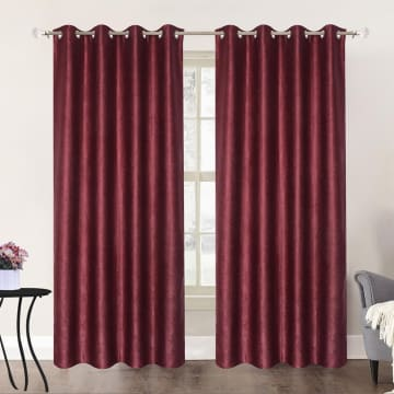 GORDEN BLACKOUT DAMASK 140X250 CM - MERAH MAROON_1