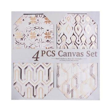 SET HIASAN DINDING KANVAS ART BOHEMIAN H4 66.5X64 CM 4 PCS_1