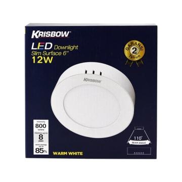KRISBOW LAMPU DOWNLIGHT BULAT LED 12W 800 LM - WARM WHITE_3