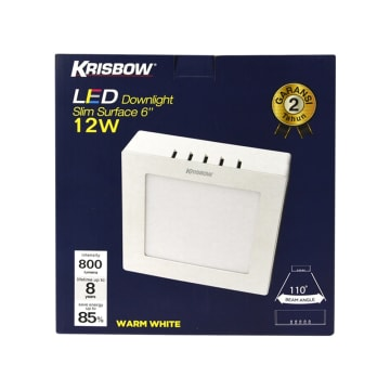 KRISBOW LAMPU DOWNLIGHT PERSEGI LED 12W 800 LM - WARM WHITE_3