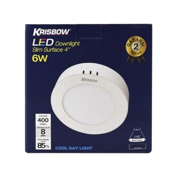 KRISBOW LAMPU DOWNLIGHT BULAT LED 6W 400 LM - COOL DAYLIGHT_3