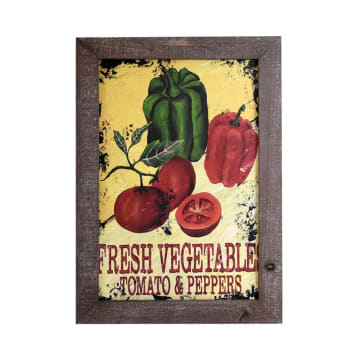 HIASAN DINDING KAYU FRESH VEGETABLES 35X50 CM_1