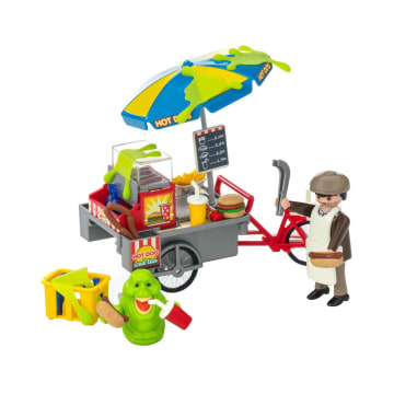 PLAYMOBIL GHOSTBUSTERS SLIMER WITH HOTDOG STAND_3