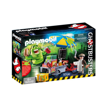 PLAYMOBIL GHOSTBUSTERS SLIMER WITH HOTDOG STAND_1