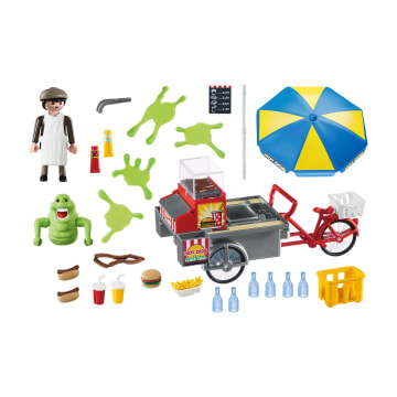 PLAYMOBIL GHOSTBUSTERS SLIMER WITH HOTDOG STAND_2
