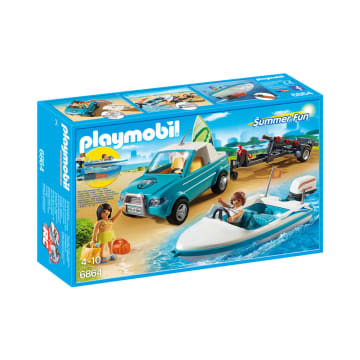 PLAYMOBIL SURFER PICKUP WITH SPEEDBOAT_1