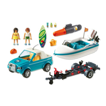 PLAYMOBIL SURFER PICKUP WITH SPEEDBOAT_2