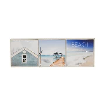 SET HIASAN DINDING BEACH LIFE 20X20X3CM 3 PCS_1
