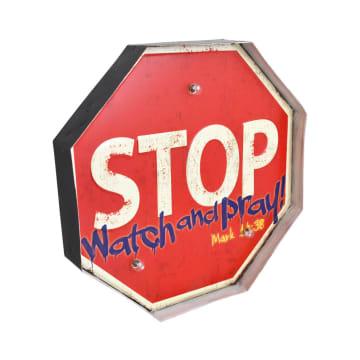 HIASAN DINDING STOP 66 33X5X33 CM - MERAH_2