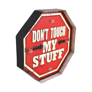 HIASAN DINDING DON'T TOUCH MY STUFF 29.5X5X29.5 CM_2