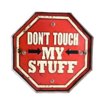 HIASAN DINDING DON'T TOUCH MY STUFF 29.5X5X29.5 CM_1
