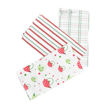 SET KAIN LAP DAPUR STRAWBERRY KATTLE 45X65 CM 3 PCS_1