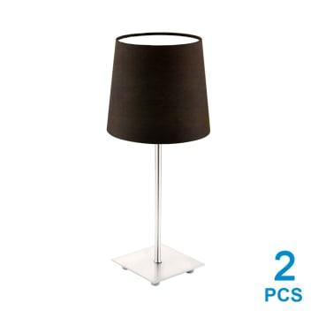 EGLO LAURITZ SET LAMPU MEJA 2 PCS - COKELAT_1