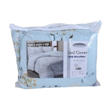 BED COVER MICROFIBER AUTUMN - BIRU_2