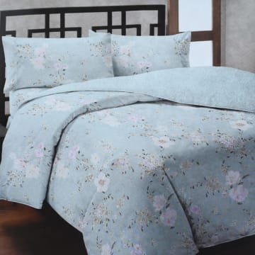 BED COVER MICROFIBER AUTUMN - BIRU_1