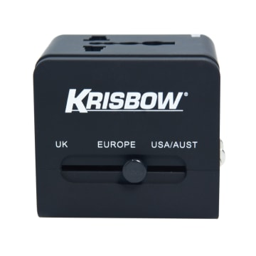 KRISBOW TRAVEL ADAPTOR - HITAM_2