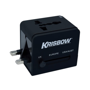 KRISBOW TRAVEL ADAPTOR - HITAM_3