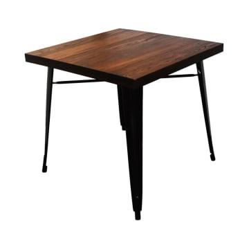 LONDON ELM TABLE EDGE 80X80 CM - HITAM_1
