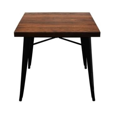 LONDON ELM TABLE EDGE 80X80 CM - HITAM_2
