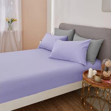 LINOTELA KAIN SPREI 120X200+35CM - UNGU MUDA_2