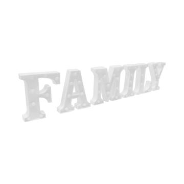 HIASAN DINDING LIGHT FAMILY 22.5X17X4.5 CM - PUTIH_2