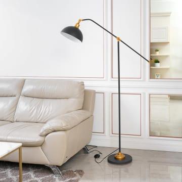 GAYLE LAMPU LANTAI - HITAM_2
