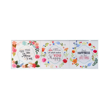 SET HIASAN DINDING FLOWER F50 30X30X3 CM 3 PCS_1